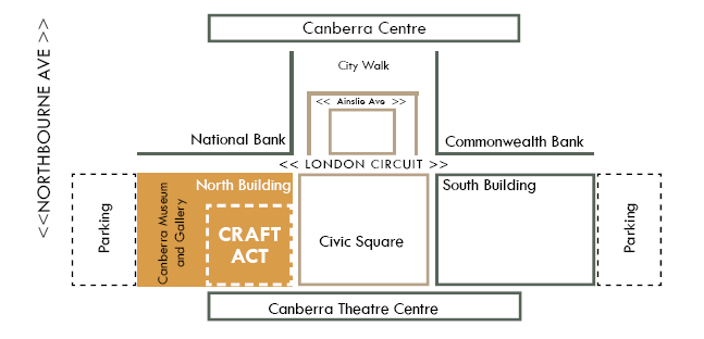 Location map for Craft ACT