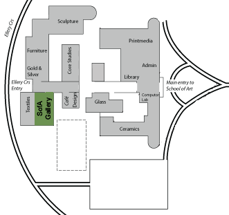 Location map for the ANU SofA Gallery